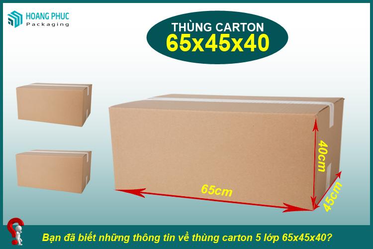 Thùng carton 65x45x40