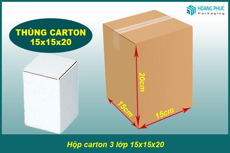 Thùng carton 15x15x20