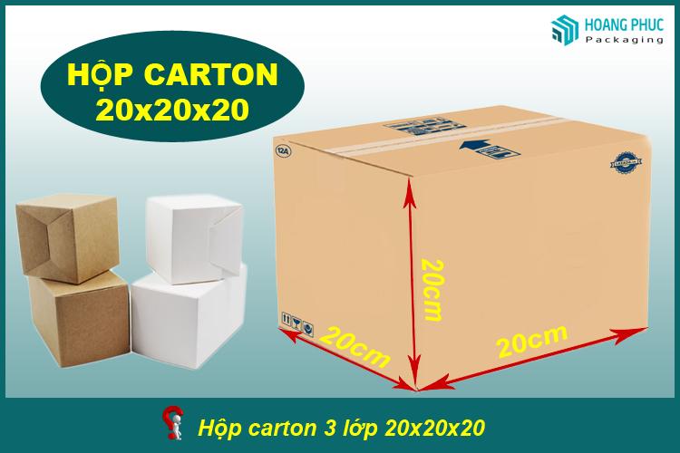 Thùng carton 20x20x20