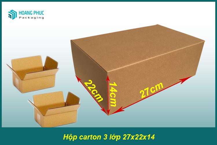Thùng carton 27x22x14