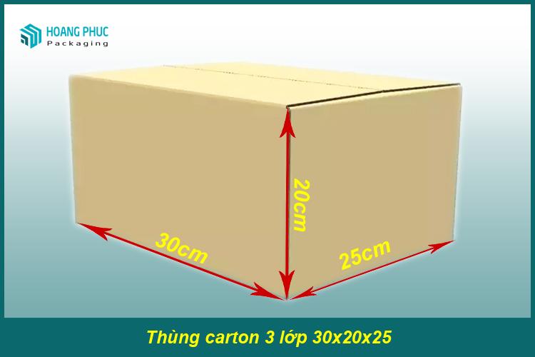 Thùng carton 30x25x20