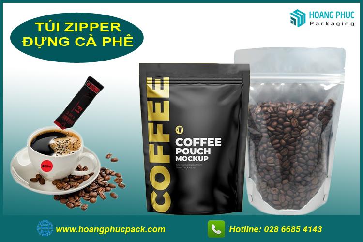 Túi zipper đựng cà phê