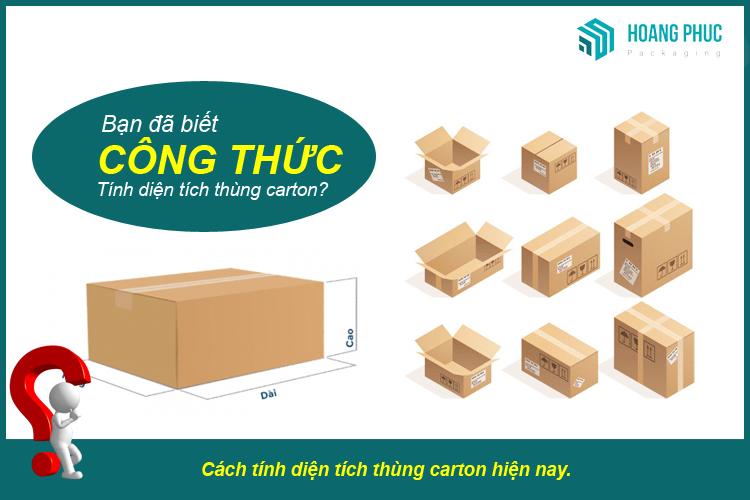 Cách tính diện tích thùng carton