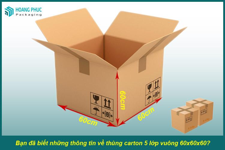 Thùng carton 60x60x60