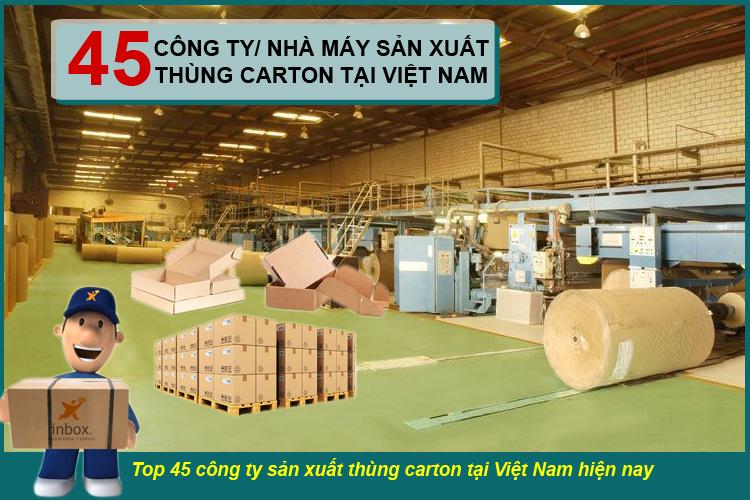 Top 45 công ty sản xuất xuất thùng carton tại việt nam