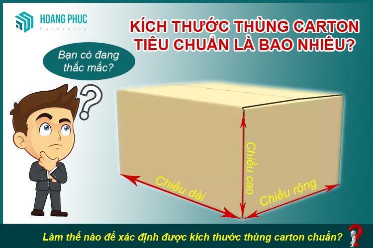 Kích thước thùng carton tiêu chuẩn