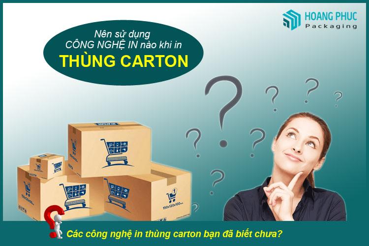 Nên sử dụng thùng carton in offset hay flexco loại nào tốt?