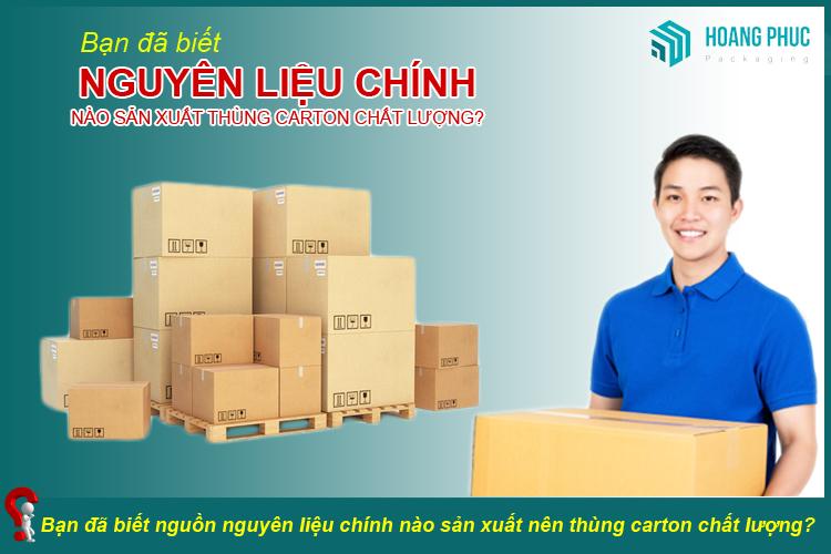 Nguyên liệu sản xuất thùng carton