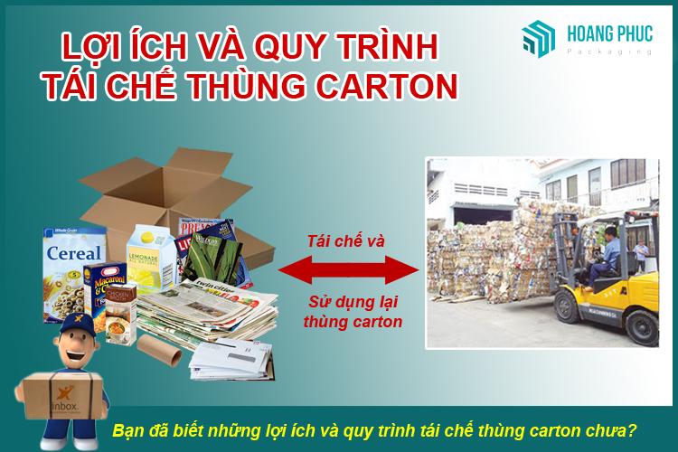 Quy trình tái chế thùng carton