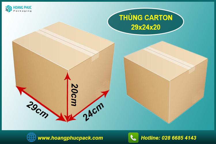 Thùng carton 29x24x20