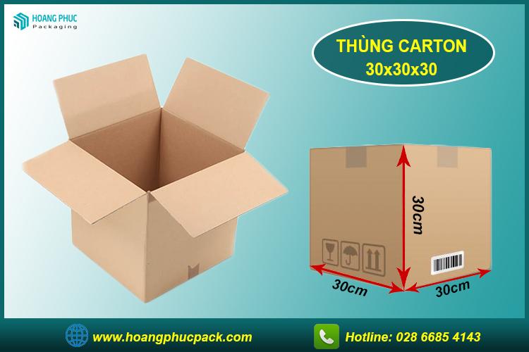 Thùng carton 30x30x30