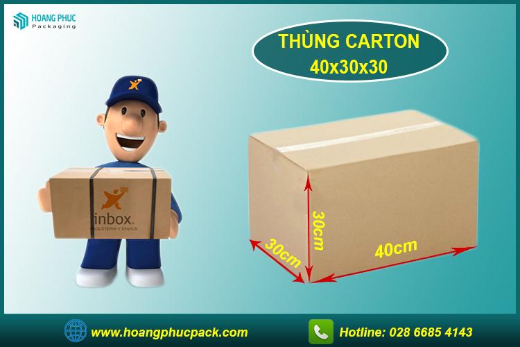 Thùng carton 40x30x30